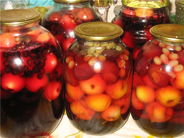 Компот из винограда на зиму, виноградный компот - рецепты ...