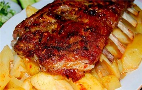 ребрышки свиные в духовке рецепт с картошкой